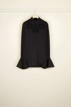 Patou Embroidered Silk Top