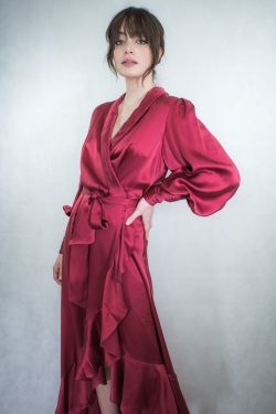 Zimmermann Silk Wrap Dress