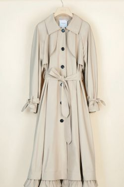 Patou Cotton Gabartine Trench Coat