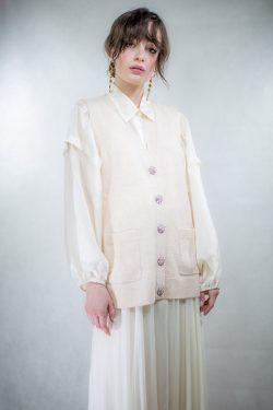 Ganni Cashmere Knit Weste Solid