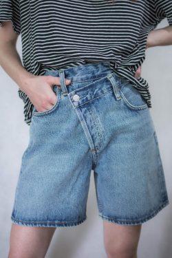 Agolde Criss Cross Jeans Short