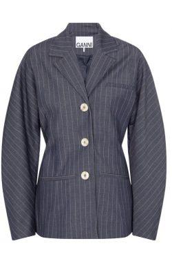 Ganni Dolman Cocoon Sleeve Suit Blazer