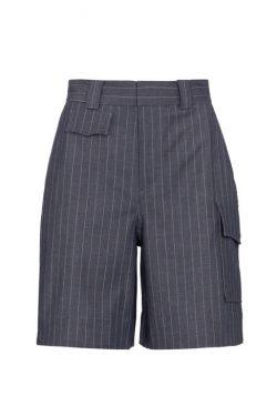 Ganni High-Rise Cargo Suit Shorts