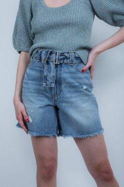 Ganni Overwashed Denim Shorts