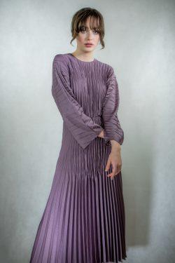Vince Pleated Dolman Dress