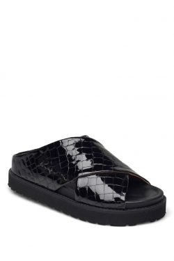 Ganni Belly Croc Sandal