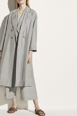 Vince Drapey Silk Long Trench