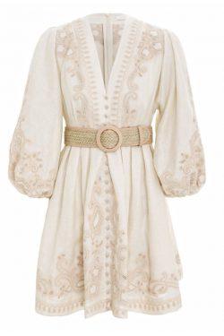 Zimmermann Estella Paisley Short Dress